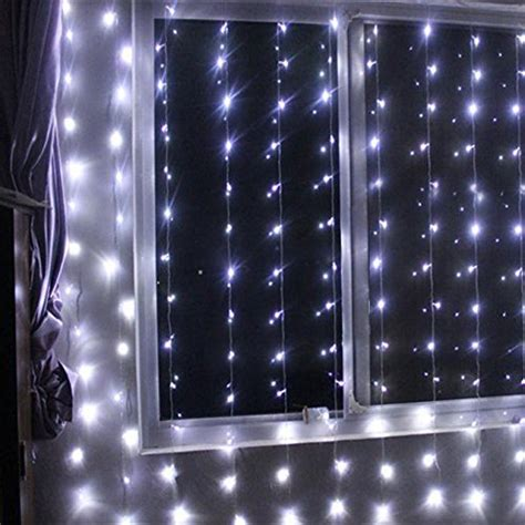 battery operated curtain lights battery operated 300 led curtain string lights w remote