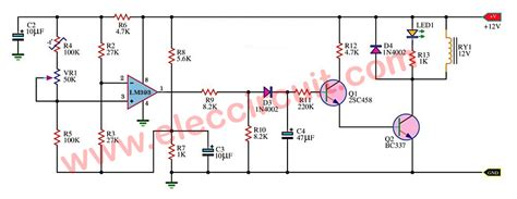 Temperature Controlled Off Relay Circuit Using