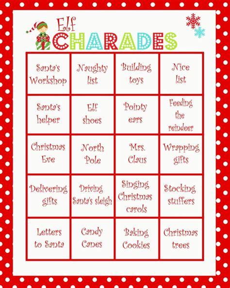 christmas charades game moms munchkins