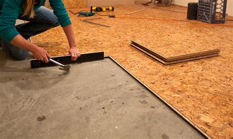 how to install osb subfloor renovation tip protecting your basement floors novero homes and renovations