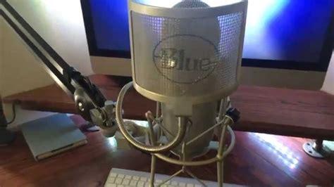 blue yeti mic  shock mount  boom setup p youtube