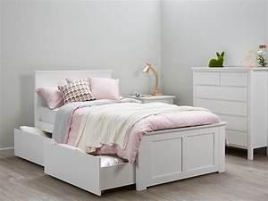 Fantastic King Single Bed Storage Kids Beds White