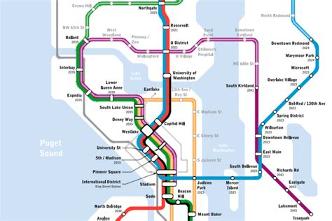 light rail map seattle map of the week seattle subway vision map 187 the urbanist