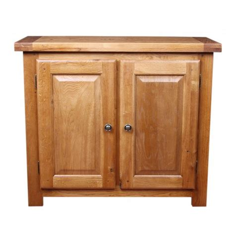 Rustic Oak Small Sideboard by Emporium Home Bretagne Rustic Oak Small 2 Door Sideboard