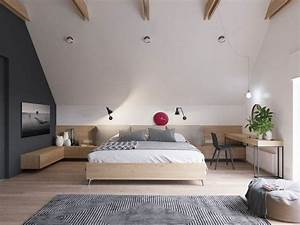 Bett Unter Dachschräge : ger umiges schlafzimmer mit dachschr ge gef llt mir ~ Lizthompson.info Haus und Dekorationen