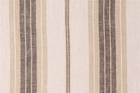 Fergus Upholstery by Fergus In Marble Woven Linen Stripe Drapery Fabric By Bravo