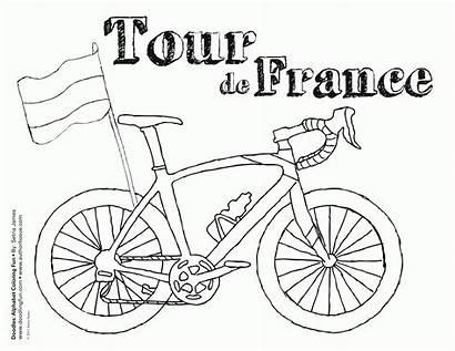 France Coloring French Dibujos Tour Printable Flag