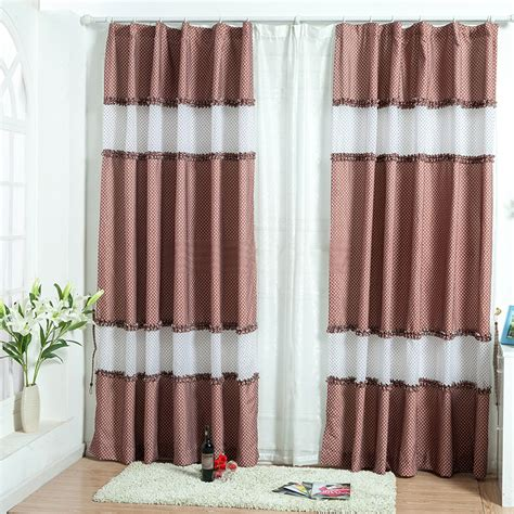 sweet and polka dot window curtains of multi color
