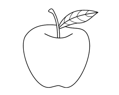 Nice Apple For Apple Pie Coloring Page