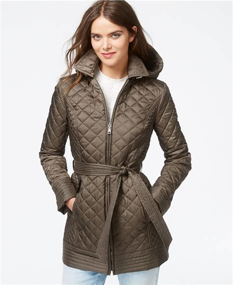 laundry by design quilted coat laundry by design hooded belted quilted jacket