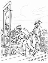Robespierre Coloring Death Pages Revolution French Categories Guillotine sketch template
