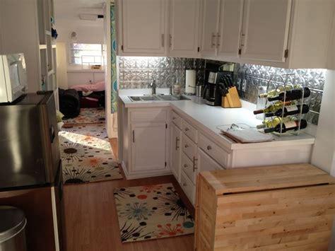 kitchen redo  holiday rambler camper redo renovation