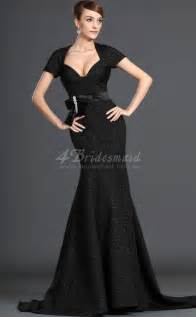 satin bridesmaid dresses mermaid with sleeves black satin bridesmaid dresses bd500 4bridesmaid
