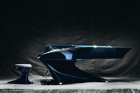 wonderfully futuristic piano design  gergely boganyi