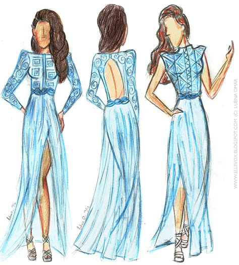 Fashion Design Sketches Prom Dress