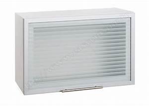 Hotte Sous Meuble : meuble haut sous hotte vitr e 60cm pas cher achat easy ~ Melissatoandfro.com Idées de Décoration