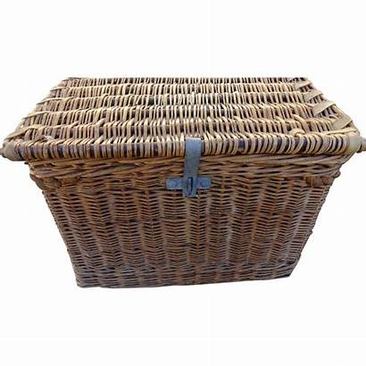 Wicker Trunk Steamer Antique French Shops 1299