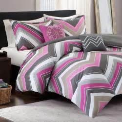 elise twin xl comforter set fuschia chevron free shipping