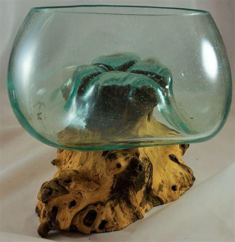 Vase Auf Wurzel by Unikat Skulptur Vase Schale Glas Auf Teak Holz
