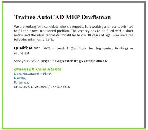 Civil Draughtsman Resume Sample