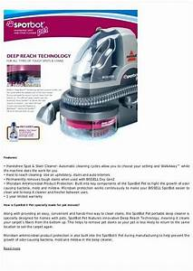 Bissell Spotbot Pet User Manual  U2022 Vacuumcleaness