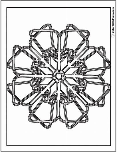 Geometric Coloring Pages Designs Circular Printable Getcolorings