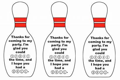 Bowling Printable Template Party Ball Tags Invitations