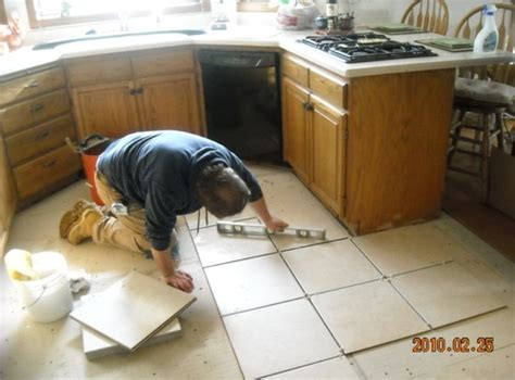 Stylish Installing Floor Tile Your Peel And Stick Vinyl On