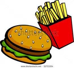 Burger and Fries Clip Art