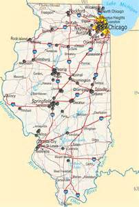 Illinois State Map Cities
