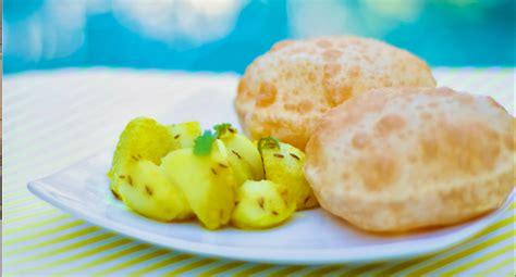 Poori Bhaji Recipe  How To Make Poori Bhaji  Aloo Bhaji