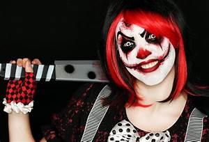 Killer Clown Makeup Tutorial | Easy Scary Clown | 31 Days ...