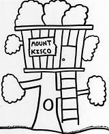 Coloring Tree Pages Treehouse Magic Elevator Village Drawings Printable Houses Scene Piano Designlooter Getcolorings Latest sketch template