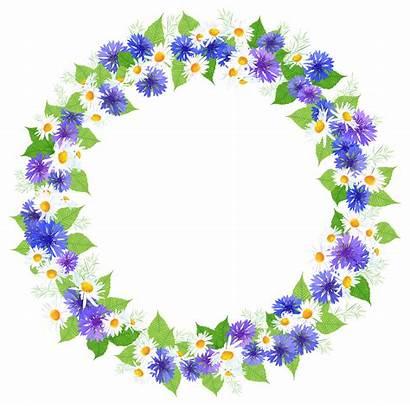 Round Floral Clipart Decoration Clip Decorative Transparent