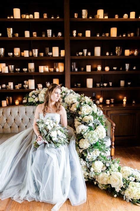 lush blue  grey winter wedding ideas   estate