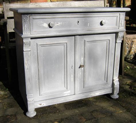 Antique Painted Sideboard by Grey Painted Antique Pine And Oak Sideboard