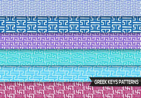 greek keys patterns vector   vector art