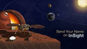 You Can Send Your Name to Mars Aboard NASA's InSight Lander