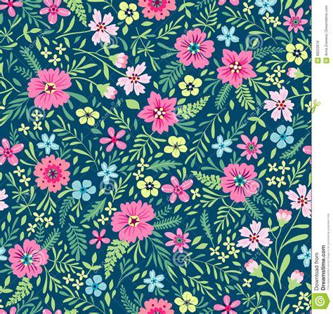 cute floral pattern stock vector illustration  retro