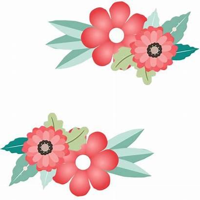 Transparent Border Flower Invitation Floral Frame Clipart