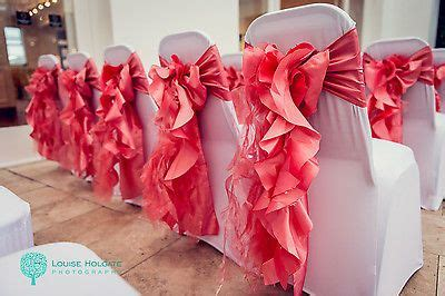 coral ruffle wedding chair sashes for hire diy or set up west midlands area kendra kyle