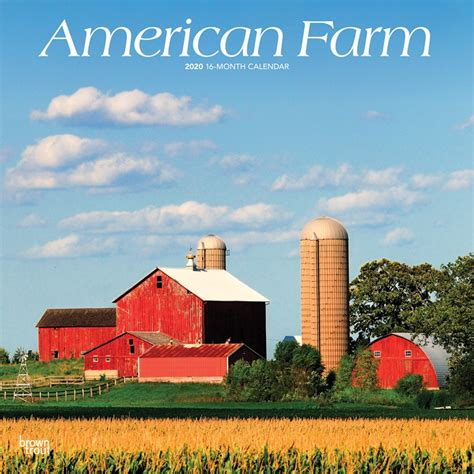 american farm monthly square wall calendar usa