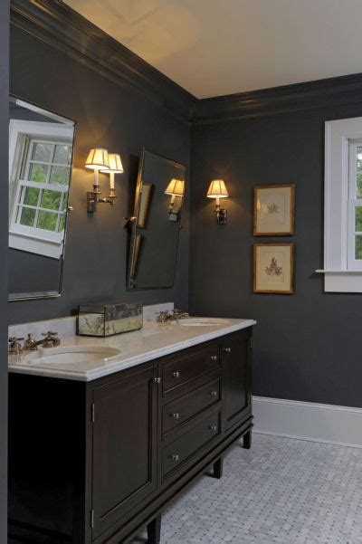 Brown Double Vanity  Traditional  Bathroom  The Banks