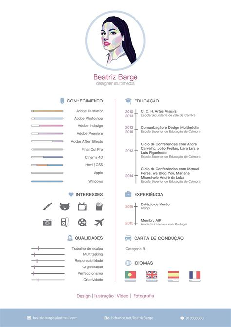 Cv Design by Curriculum Vitae On Behance Graphic Cv Design Resume