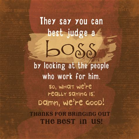Thanks Being Good Boss Quotes