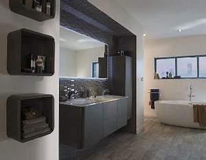 Carrelage Salle De Bain Noir Et Blanc : salle de bain noir et blanc meubles et carrelage castorama ~ Dallasstarsshop.com Idées de Décoration