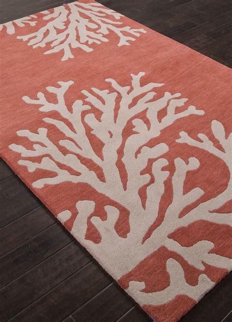 Coral Color Bathroom Rugs by Coastal Seaside Coral Rug Apricot House