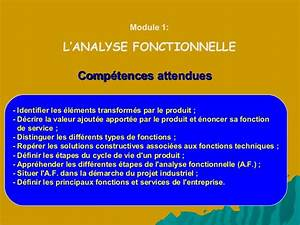 Analyse Fonctionnelle  Tronc Commun Technologique