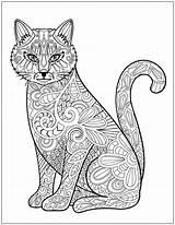 Coloring Mandala Adult Adults Patterns Mandalas Stress Colouring Kucing Relieving Gratis Cats Printable Coloriage Animal Gambar Chat Detailed Imprimir Lucu sketch template