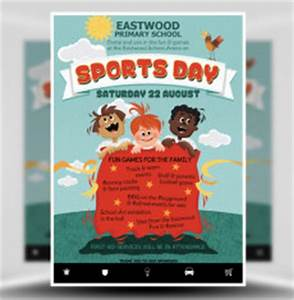 sports day poster template - low cost community flyer templates from flyerheroes
